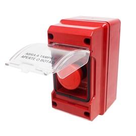 Acionador Manual Botão Giratório Convencional com Alarme 20 - 30VDC Zeus