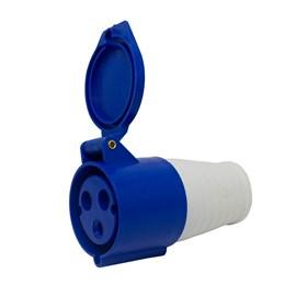 Acoplamento Blindado 2P+T 6H 16A 220V Azul Eletrorastro