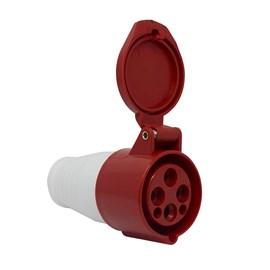 Acoplamento Blindado 3P+T 16A 415V Vermelho Eletrorastro