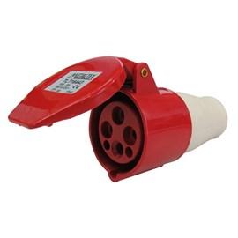 Acoplamento Blindado 3P+T 16A 415V Vermelho Metaltex