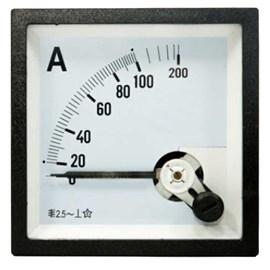 Amperímetro Analógico 100/5A 72X72mm Para TC JNG