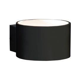 Arandela Balizador LED Solid Redondo Luz Branca 8W Preto Bivolt Startec