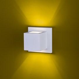 Arandela Balizador Quadrado 2 Fachos de Luz 958 BMT Branca Ideal