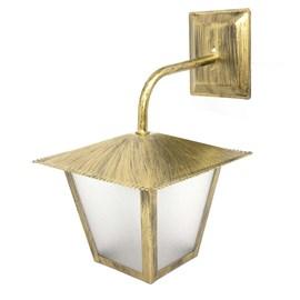 Arandela Colonial Quadrada Aço Fosfatizado Ouro Velho L-4-B Bivolt - Ideal Iluminação