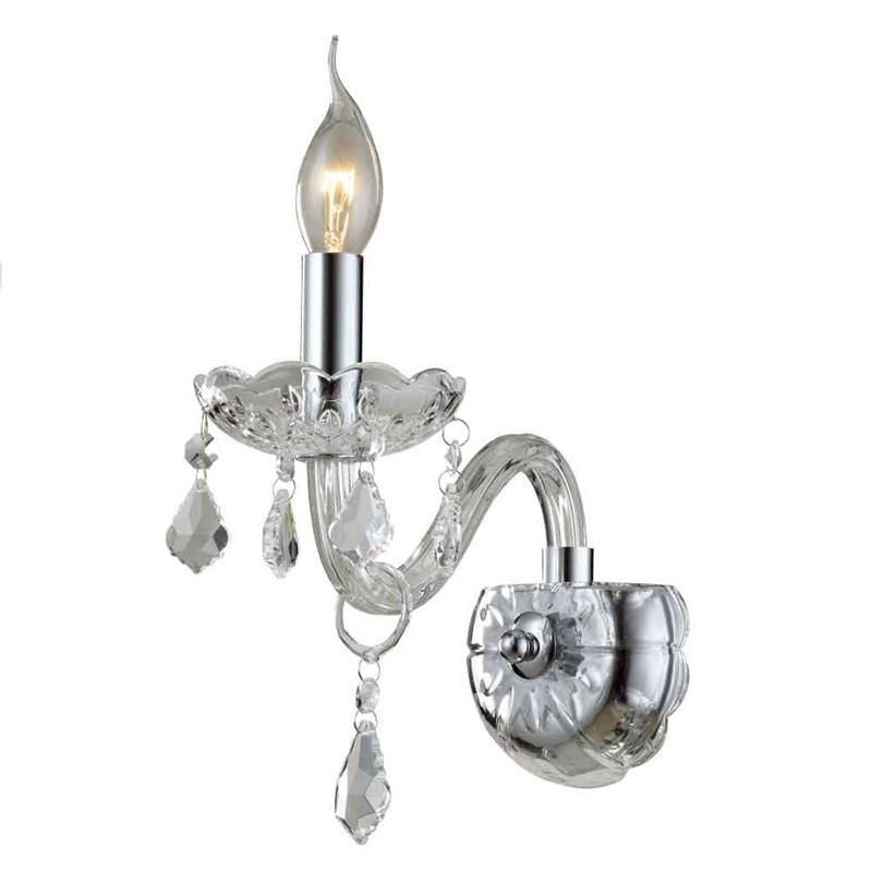 Arandela Cristal Transparente 1 Lâmpada Maria Thereza Arquitetizze