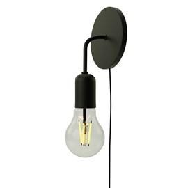 Arandela Edison Alumínio Preto Fosco Orluce
