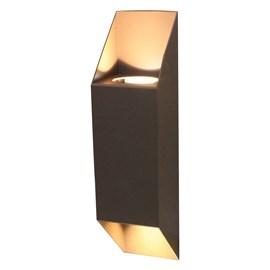 Arandela Externa Aluminio Marrom Luz Indireta Bivolt Ideal Iluminação