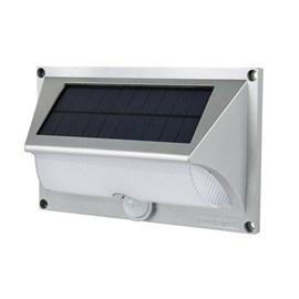 Arandela Externa LED Energia Solar com Sensor de Movimento Luz Branco Quente Ecoforce