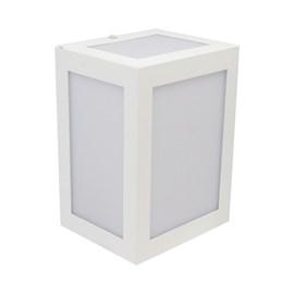 Arandela Externa Quadrada 958 BMT Branco Ideal