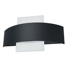 Arandela LED Endura Style Shield Quadrado Preta 11W Luz Branco Quente Bivolt Osram