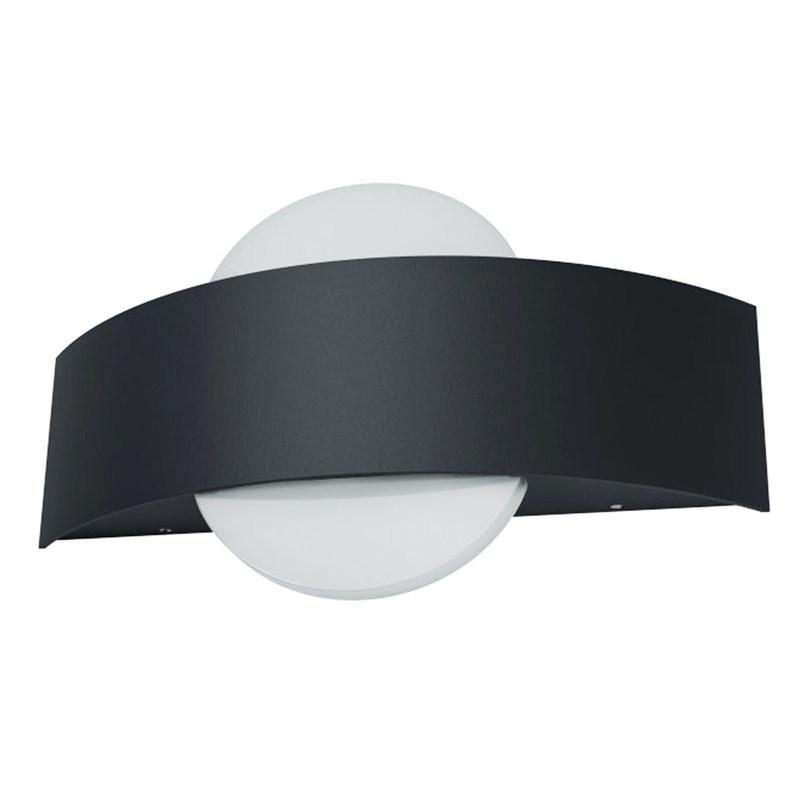 Arandela LED Endura Style Shield Redondo Preta 11W Luz Branco Quente Bivolt Osram