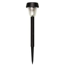 Balizador de Jardim LED Energia Solar ABS Luz Branca IP54 Preto Ecoforce