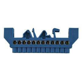 Barramento Neutro 12 Furos Base Azul JNG