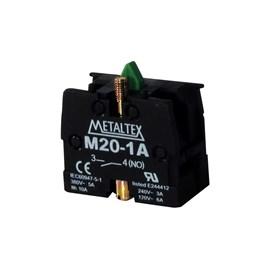 Bloco de Contato 1NA M20-1A para Botão de Comando Metaltex