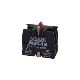 Bloco de Contato 1NF para Botão M20-1B Metaltex