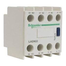 Bloco de Contato Auxiliar Frontal LADN22 2NA+2NF Schneider