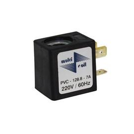 Bobina Sem Plug para Válvula Solenoide 220VCA 128.8-7A Multicoil