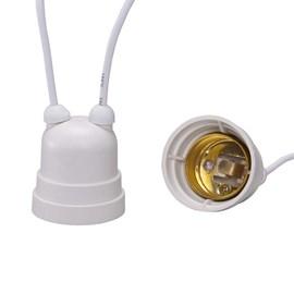 Bocal Adaptador E27 Branco com Rabicho Decorlux