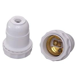 Bocal Adaptador E27 para Abajur Branco Decorlux