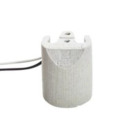Bocal Adaptador E27 Porcelana com Rabicho Lucchi