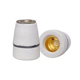 Bocal Adaptador E27 Porcelana para Prato BEDD Decorlux