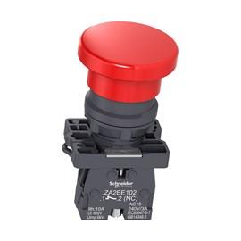 Botão de Emergência Pulsador 1NF XA2EC42 Vermelho Schneider