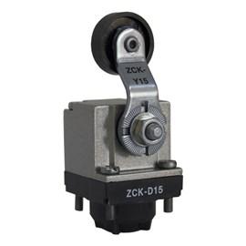 Cabeçote de Fim de Curso ZCKD15 com alavanca e rolamento 25mm Schneider