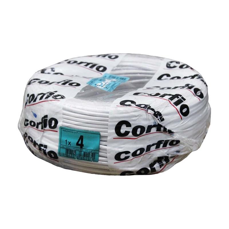 Cabo Flexível 4,00mm 100m Branco 750V Corfio/Cobrecom