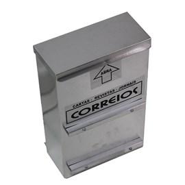 Caixa de Correio ABS Cinza Para Grade com Fechadura Alumínio Florini