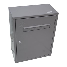 Caixa de Correio Alphaville Cinza com Fechadura Solimões