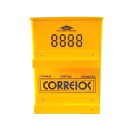 Caixa de Correio Amarela para Grade com Fechadura Florini