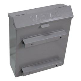 Caixa de Correio Cinza para Grade com abertura superior Solimões