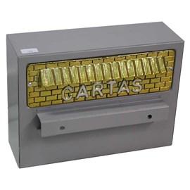Caixa de Correio Cinza para Grade com fechadura Solimões