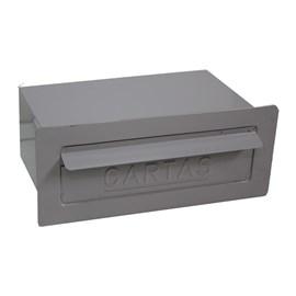 Caixa de Correio Cinza para Muros e Grades com Fechadura Solimões
