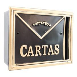 Caixa de Correio Preto/Ouro 27P Real Caixas de Correio
