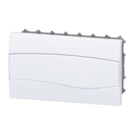 Caixa de Distribuição Embutir 12UL/18DIN PVC sem Barramento IP-40 Brum