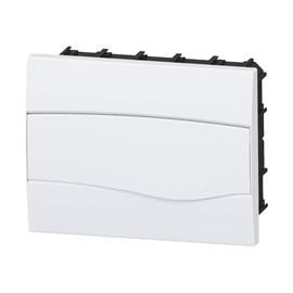 Caixa de Distribuição Embutir 8UL/12DIN PVC sem Barramento IP-40 Brum