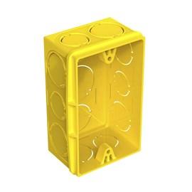 Caixa de Luz 4X2 Retangular Amarela Tigre