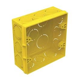 Caixa de Luz 4x4 Quadrada Amarela Tigre