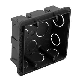 Caixa de Luz 4x4 Quadrada Preta Cemar Legrand