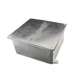 Caixa de Passagem 10X10X06 Alumínio com Tampa Revestida IP-54 Stamplac