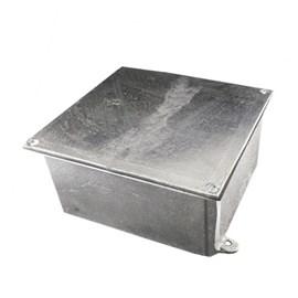 Caixa de Passagem 15X15X10 Alumínio com Tampa Revestida IP-54 Stamplac