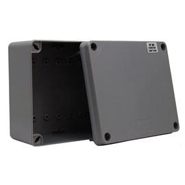 Caixa de Passagem 170x145x90mm Cinza Termoplástico IP-65 Kraus Muller