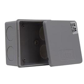 Caixa de Passagem 80x80x50mm Cinza Termoplástico IP-44 Kraus Muller