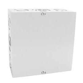 Caixa de Passagem Sobrepor 300x300mm Branca Metal IP-44 Gomes