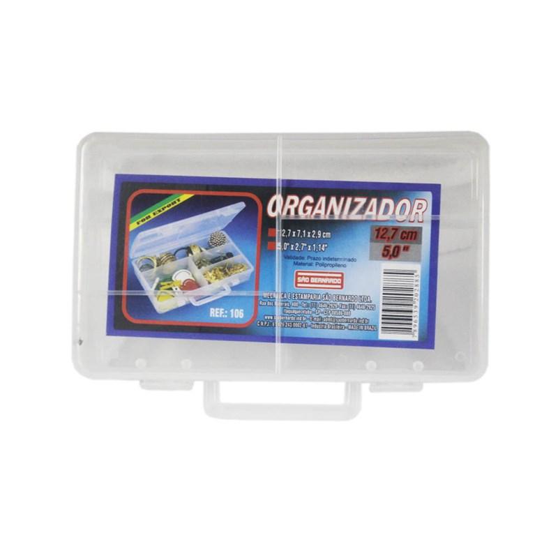 Caixa Organizadora 4 Divisórias Plástico Transparente São Bernardo