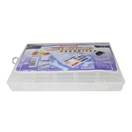 Caixa Organizadora Divisórias Adaptáveis Plástico Transparente São Bernardo