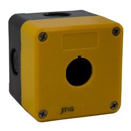 Caixa Plástica 1 Furo 22m Bmy101 Amarela Jng
