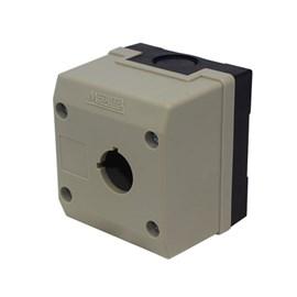 Caixa Plástica TN2-B1 1 Furo para Botão 22mm Cinza Metaltex