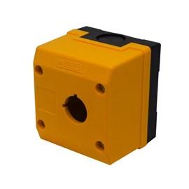 Caixa Plástica TN2-B1E 1 Furo para Botão 22mm Amarela Metaltex